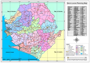 Maps UNIPSIL - Sierra leone map